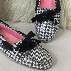 SPERRY TOP-SIDER HOUNDSTOOTH RIBBON SEQUIN SHOES
